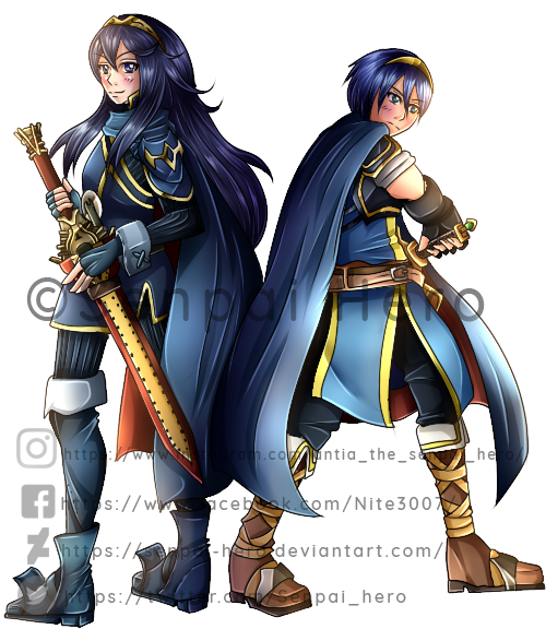 _COM_ Lucina and Marth - ShaggyGamerXD by Senpai-Hero
