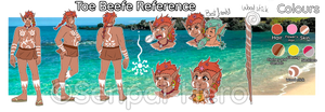 Toe Beefe Reference [OC] by Senpai-Hero