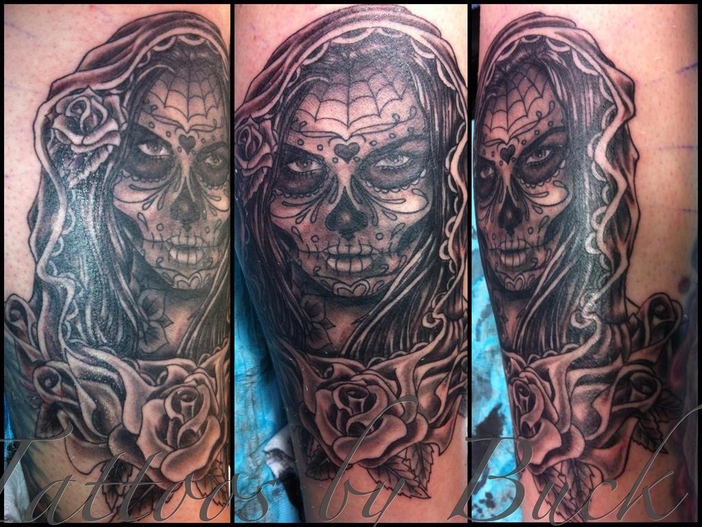 girly sugar skull tattoo designs tattoos setwidth487. Black Bedroom Furniture Sets. Home Design Ideas