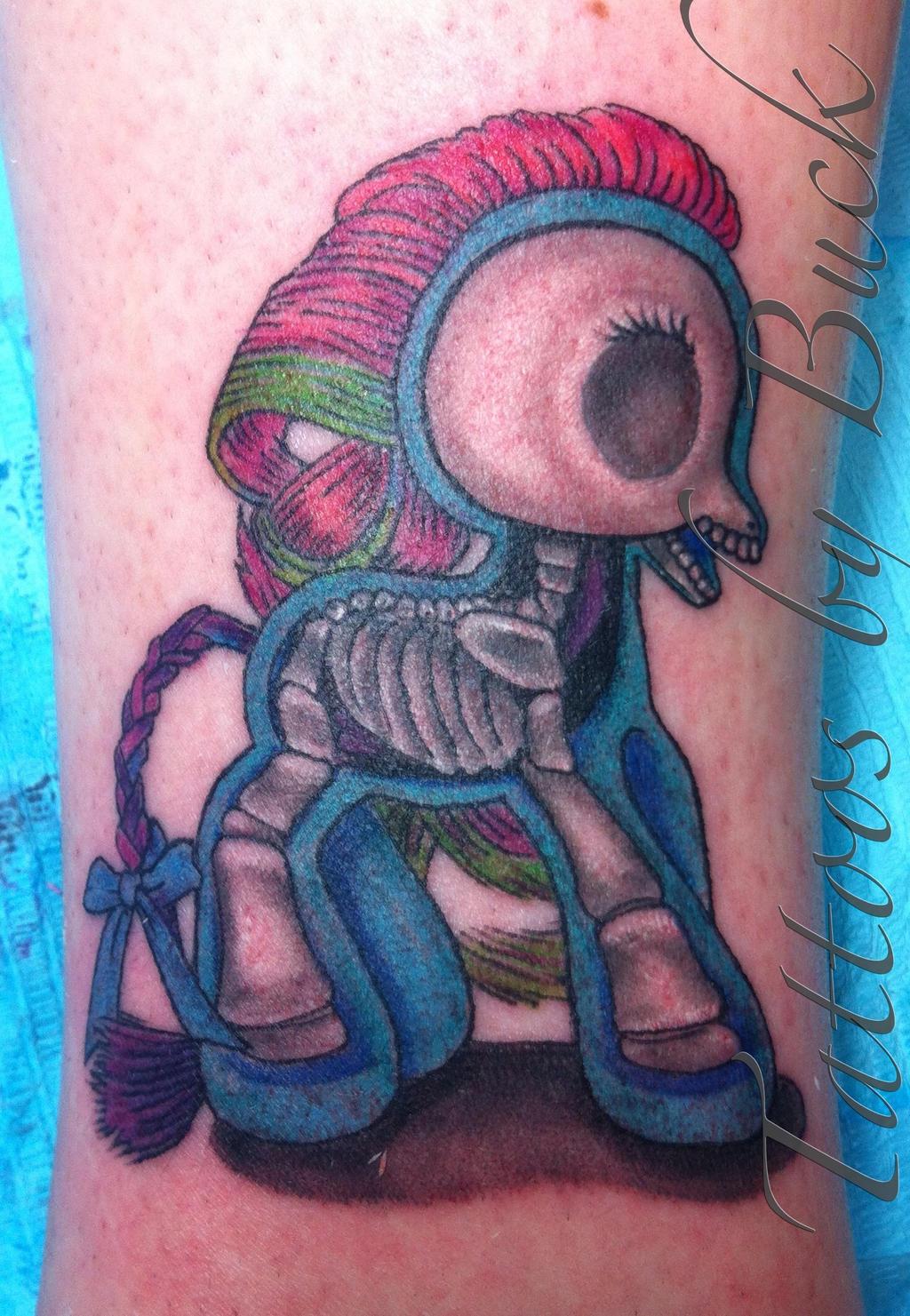 My little pony tattoo with a twist by buckintattoo on for My little pony tattoo