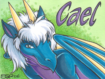 Cael -Dragon- Conbadge by ScullyRaptor