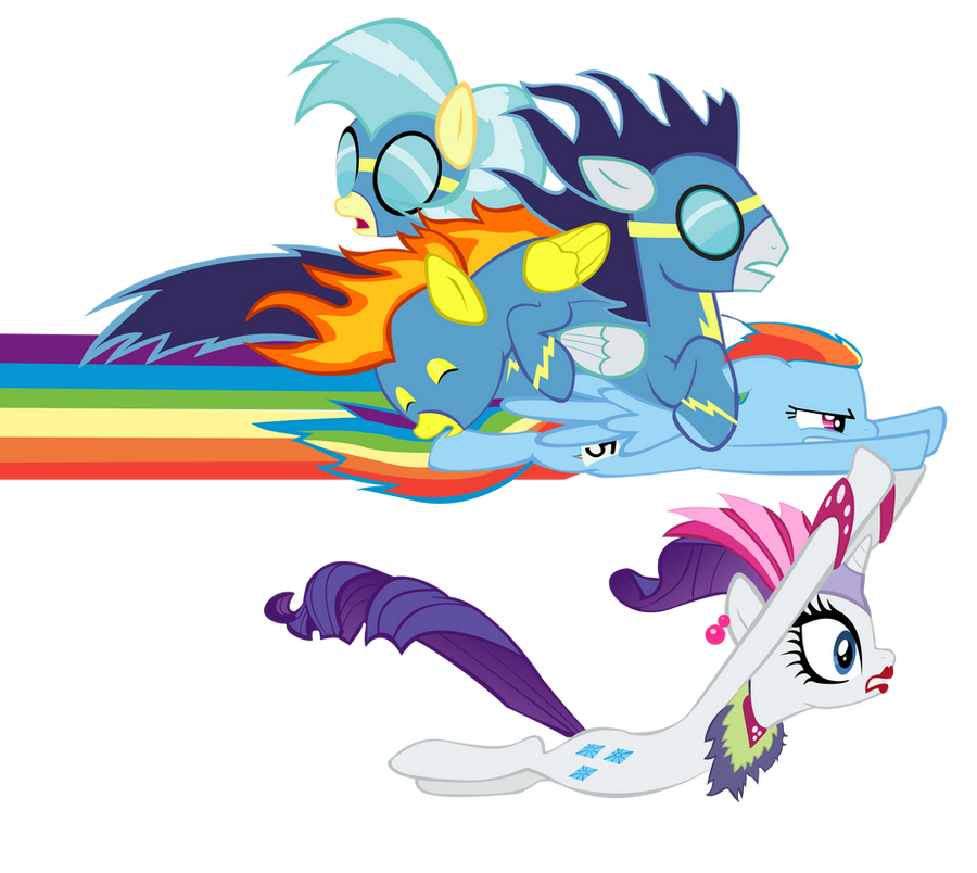 Rainbow Dash Sonic Rainboom Vector To The Rescue By