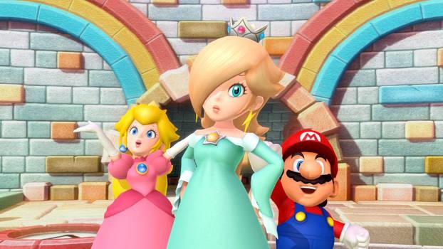 Rosalina Peach and Mario
