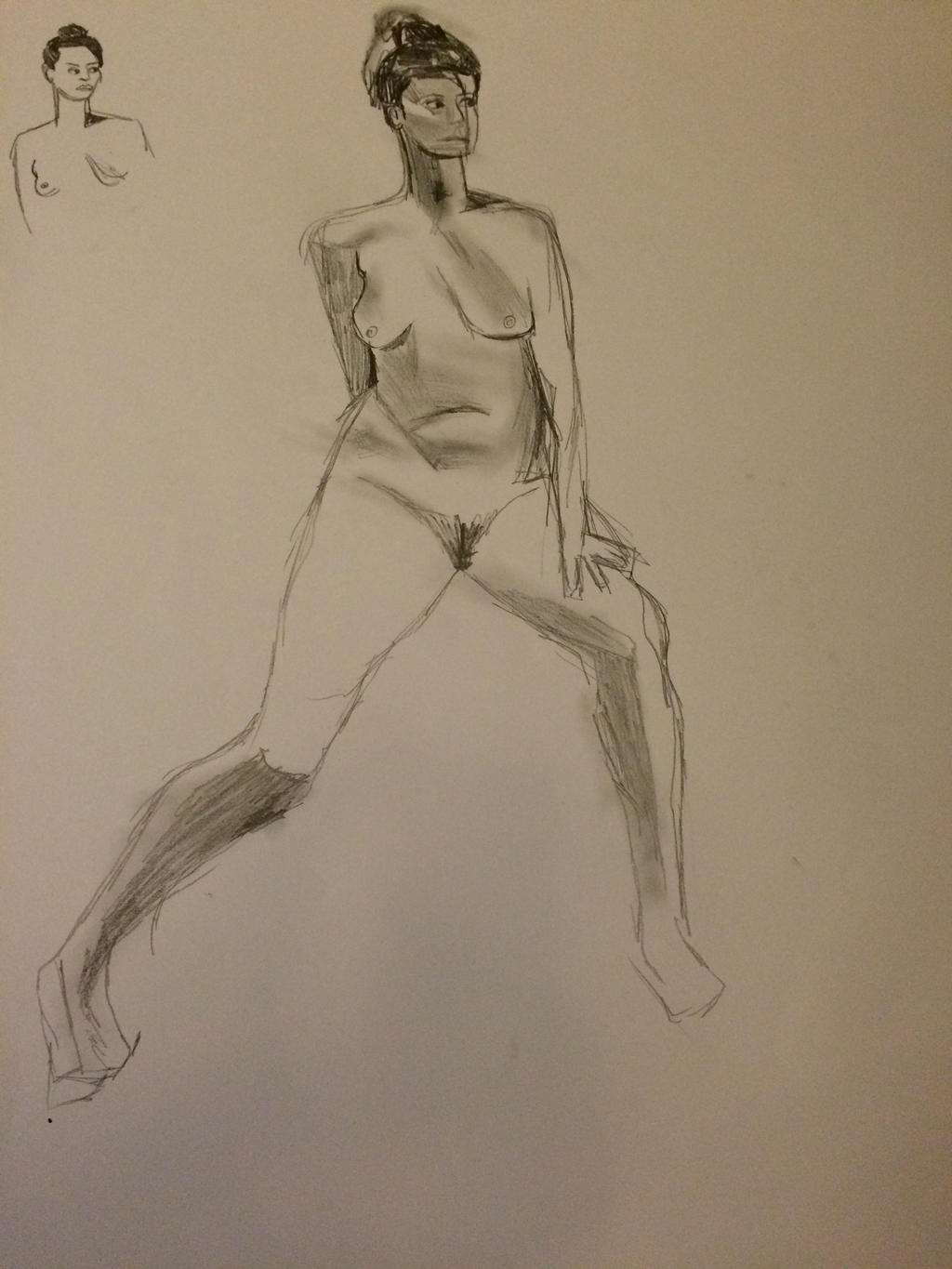 Life drawing 4 by heybeliever
