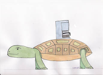 Turtle with coffeemachine by dip-C