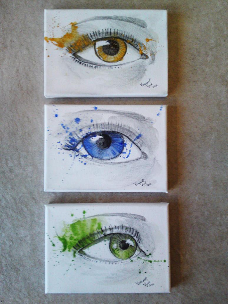 Eye Set - Amber, Blue, Green by VisualSymphonyStudio