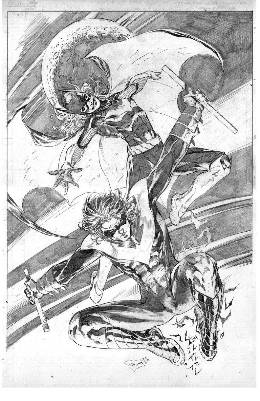 Batgirl and Nightwing by ardian-syaf