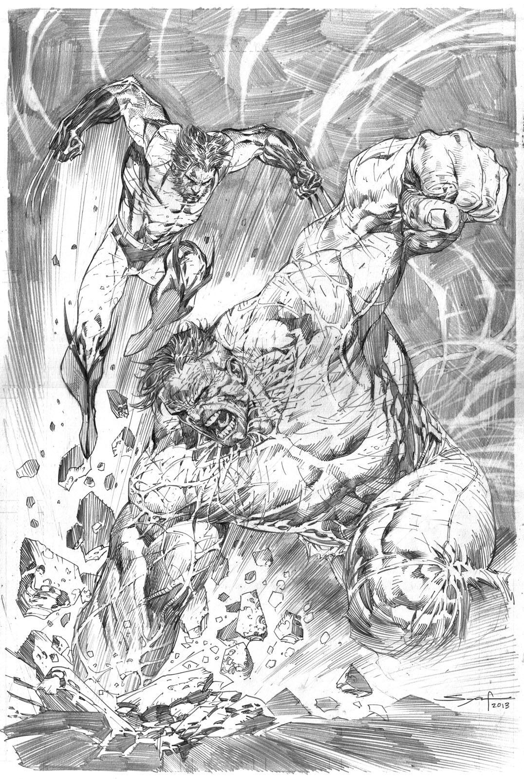 Wolverine vs Hulk by ardian-syaf