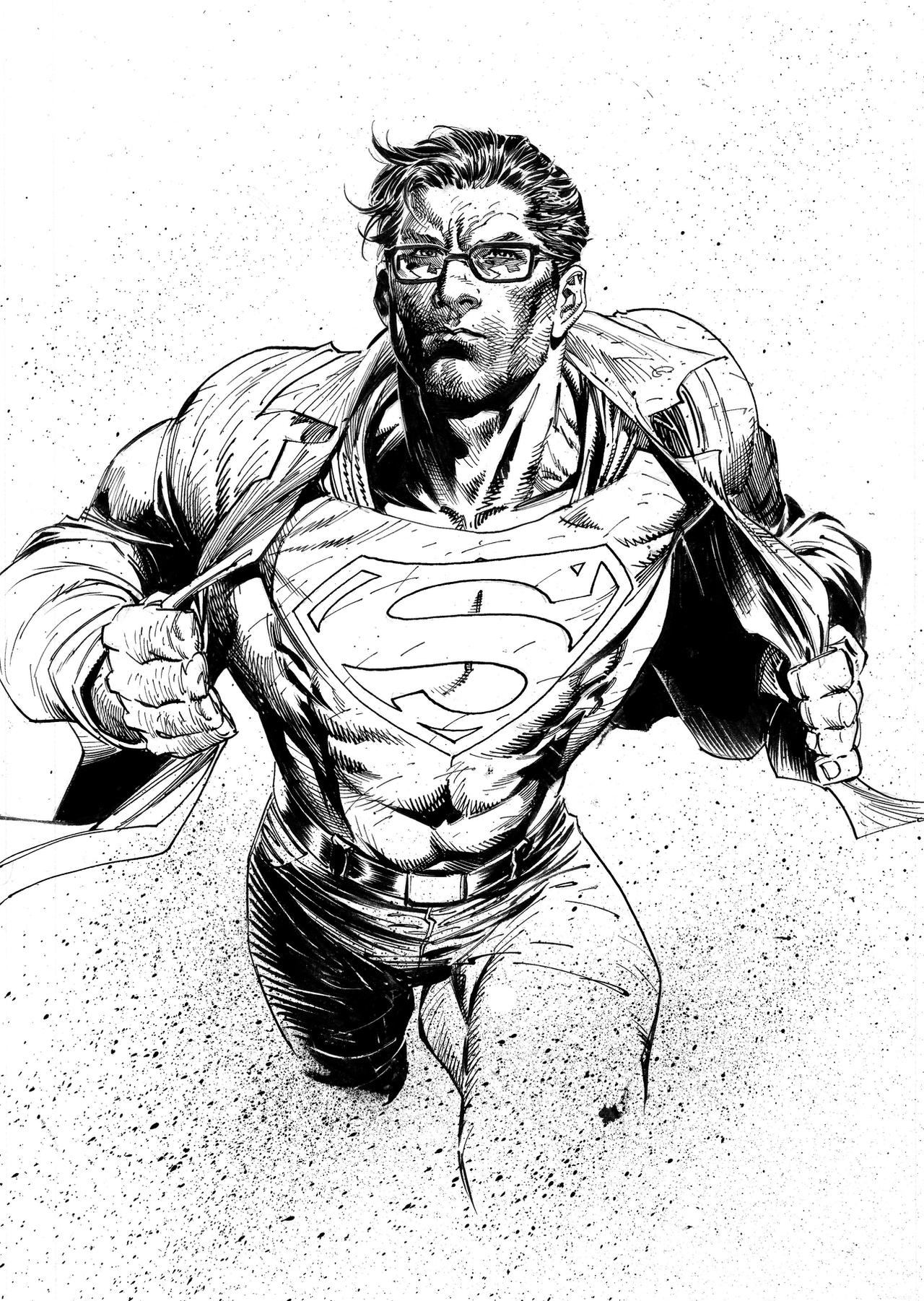 It is a picture of Enterprising Clark Kent Drawing
