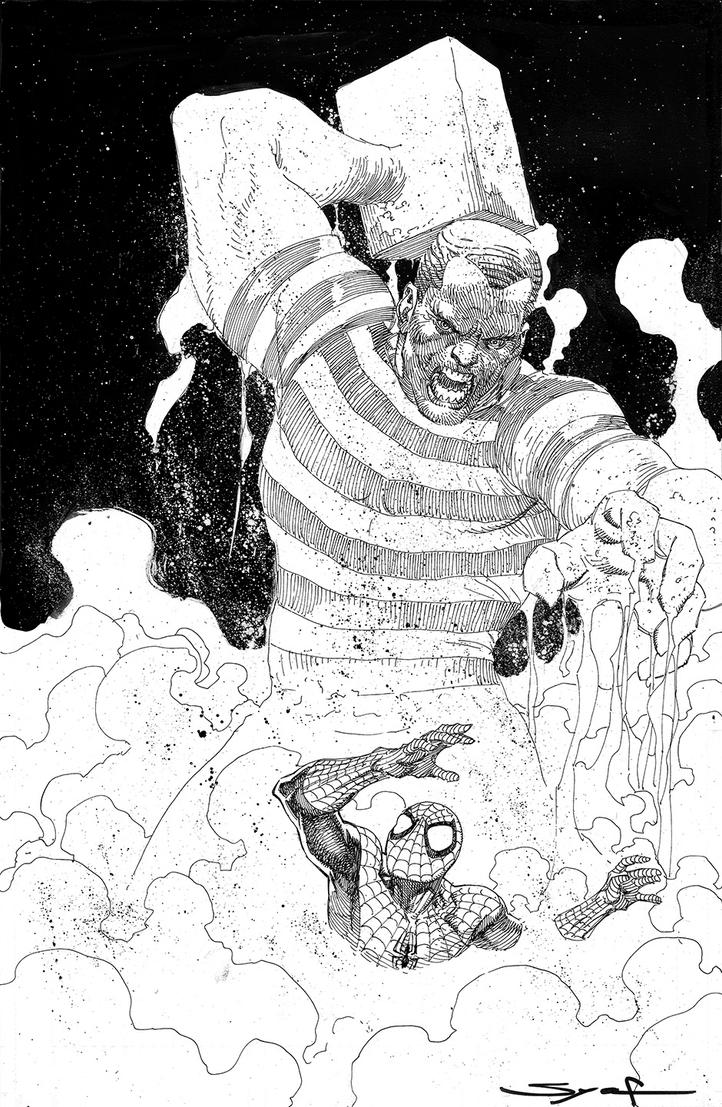 Spider-Man VS Sandman by ardian-syaf