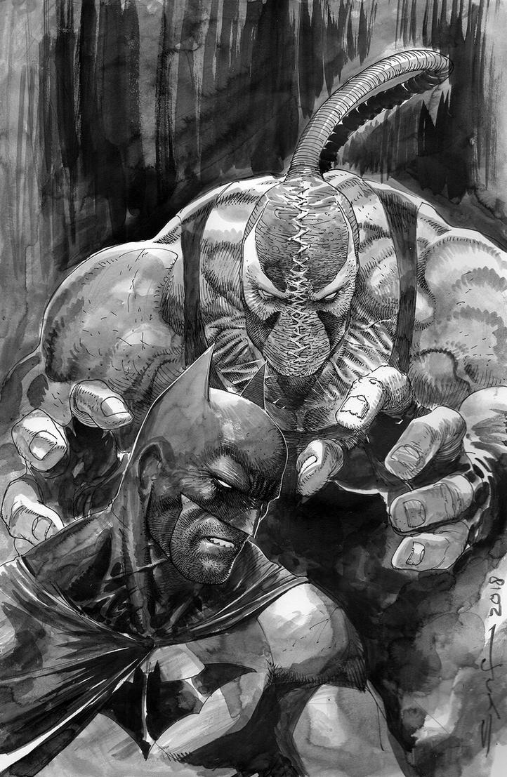 Bat and Bane by ardian-syaf