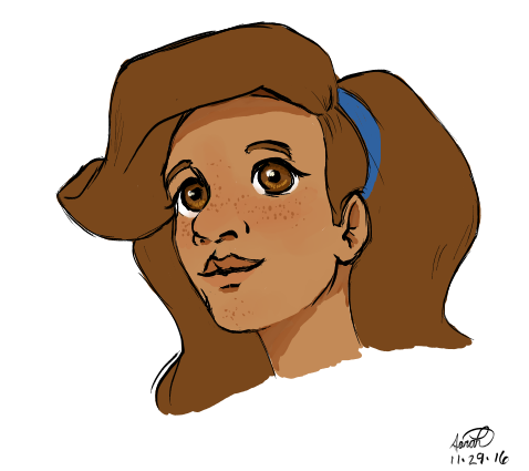 Blue Headband by Ellybethe