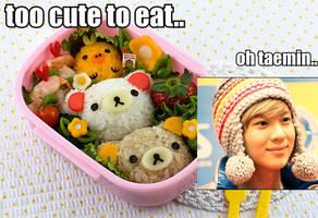 Taemin VS. Food Macro:.Which is Cuter?.: by xrinnn