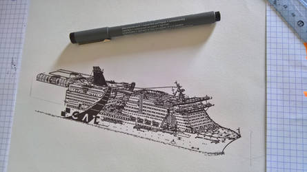 Cruise ship, not finished by JPDLD
