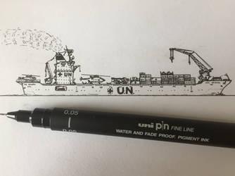 UN support ship