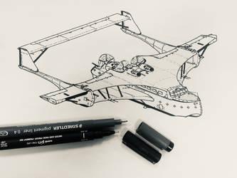 Imaginary flying boat