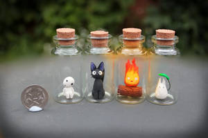 Studio Ghibli Critters in Bottles by Citrine-K