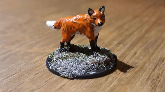 Fox companion (repainted) by woodywoodwood