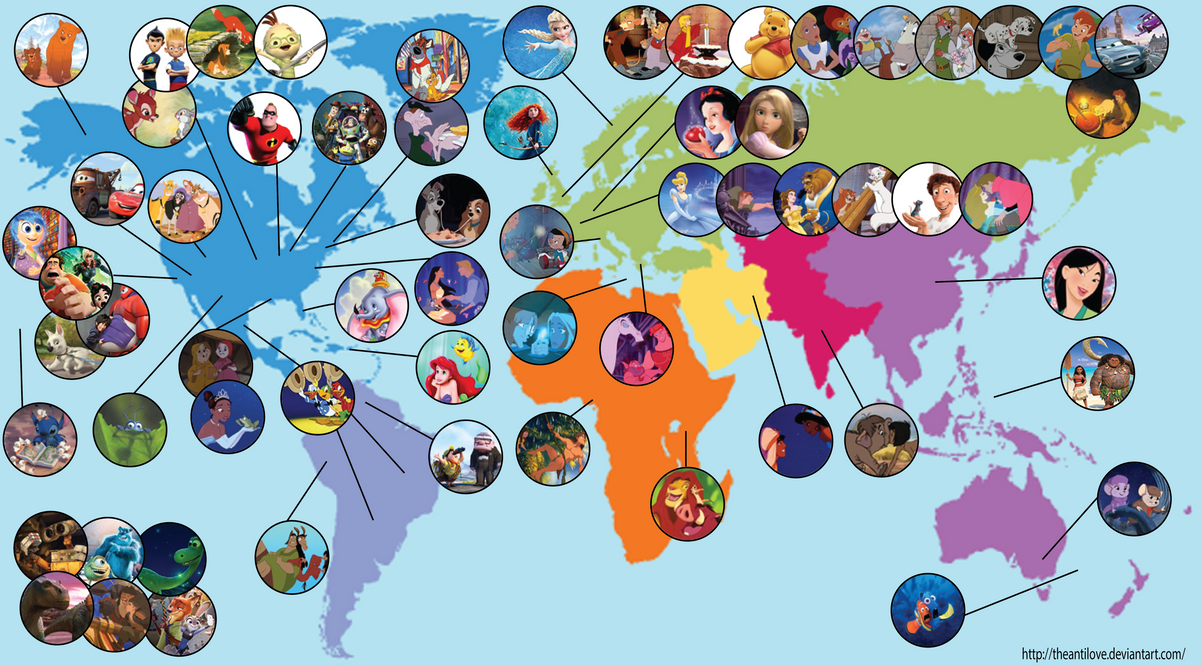 Disney Map by theanti on DeviantArt on
