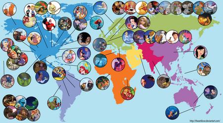 Disney Map by theantilove