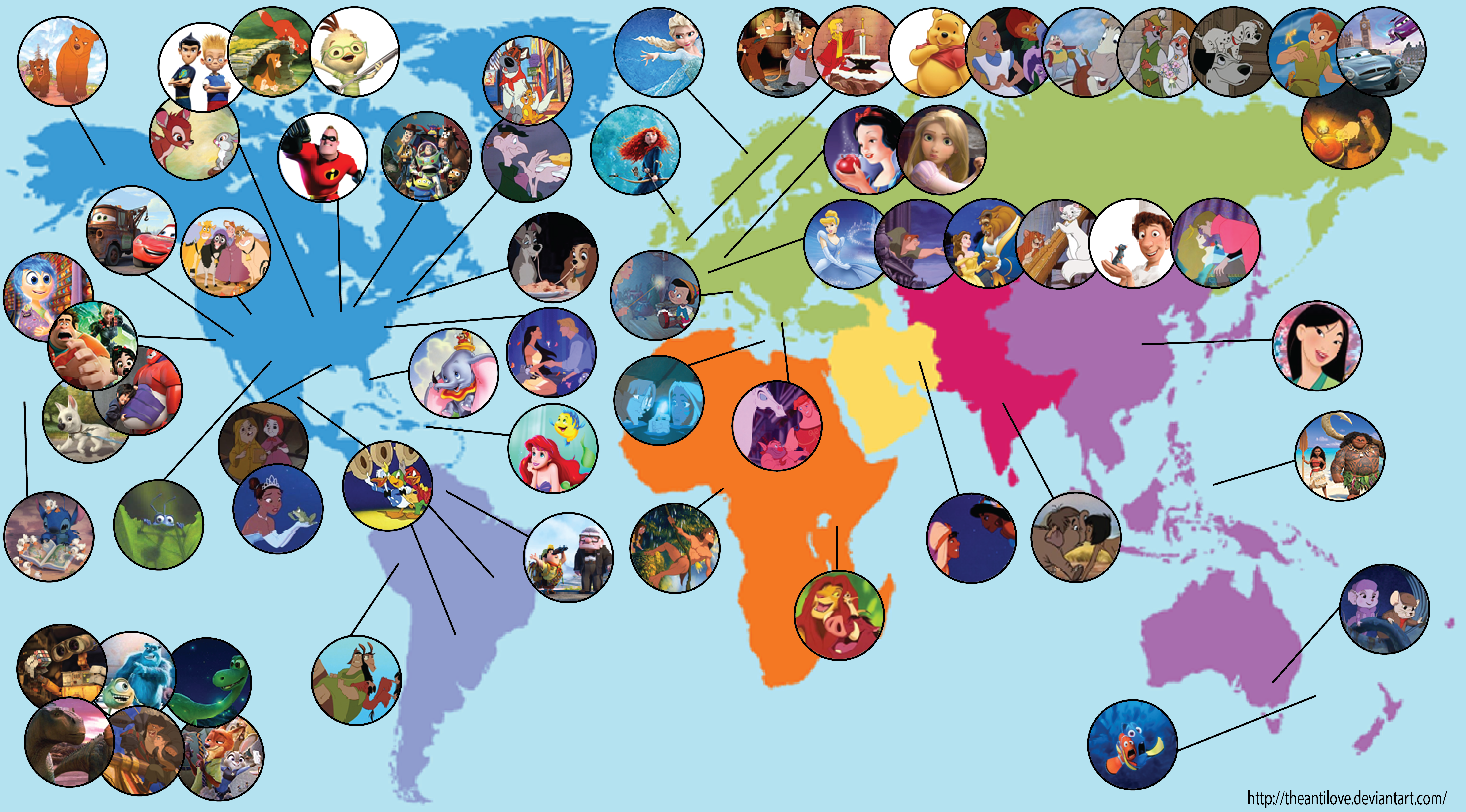 Disney Map by theantilove on DeviantArt