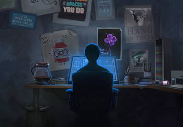Lonely Office by Brandon-Ellis