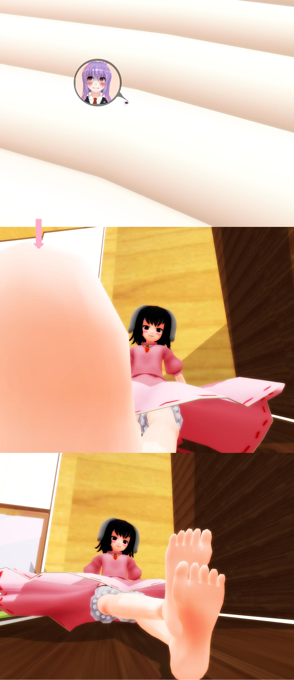 Tieny tiny on Tewi's toe by Koirvon