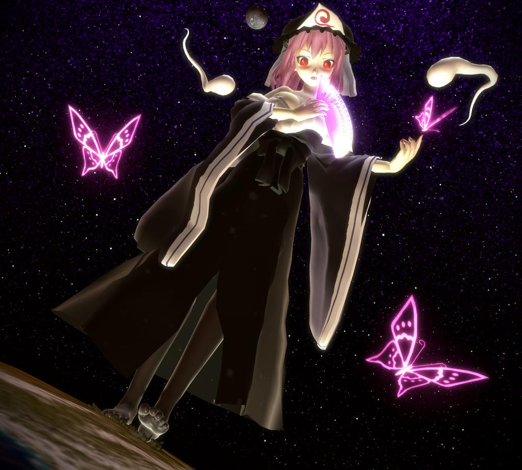 Dark Beautiful Yuyuko by Koirvon