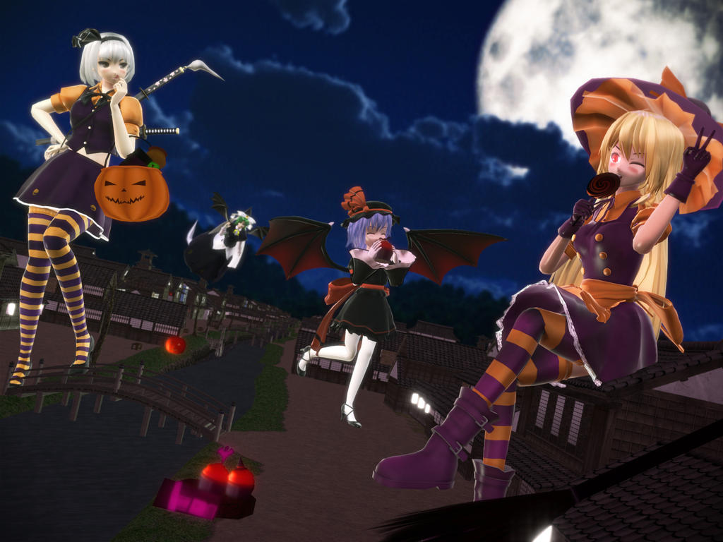 Giant cuties craving candy - Happy halloween by Koirvon
