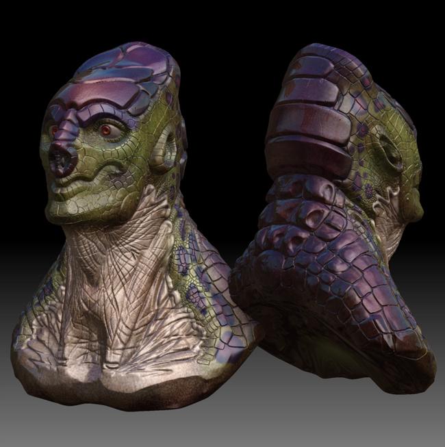 Z Man Lizard Zbrush - Lizard...