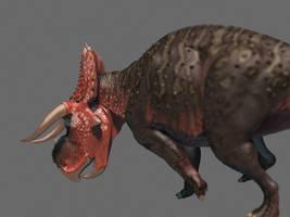 Nasutoceratops render test by Gorgonzola