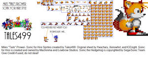 Sonic for Hire- Miles Tails Prower Sprites
