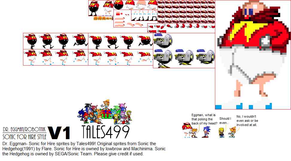 Sonic For Hire Dr Eggman Sprites V1 By Tales499 On Deviantart