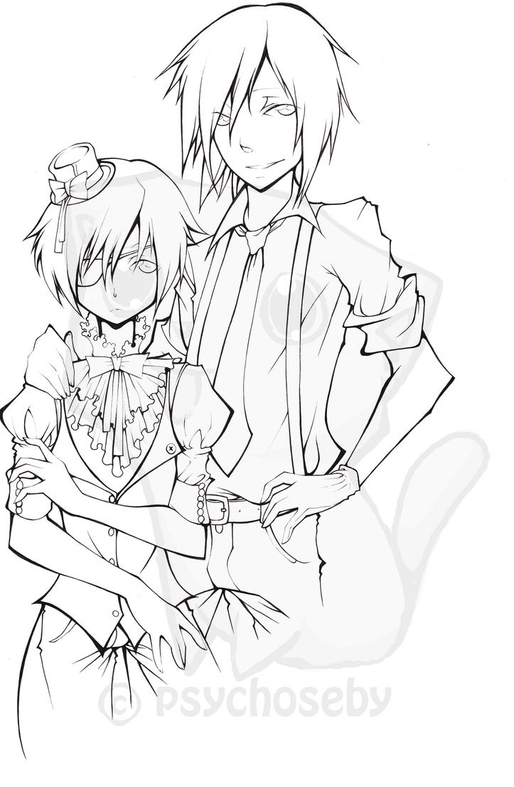 black butler coloring pages coloring pages