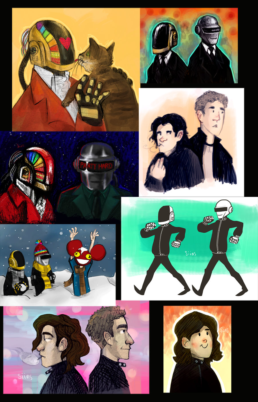 Daft Punk doodle dump by SIIINS