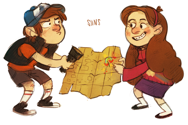 Dipper and Mabel Pines by SIIINS