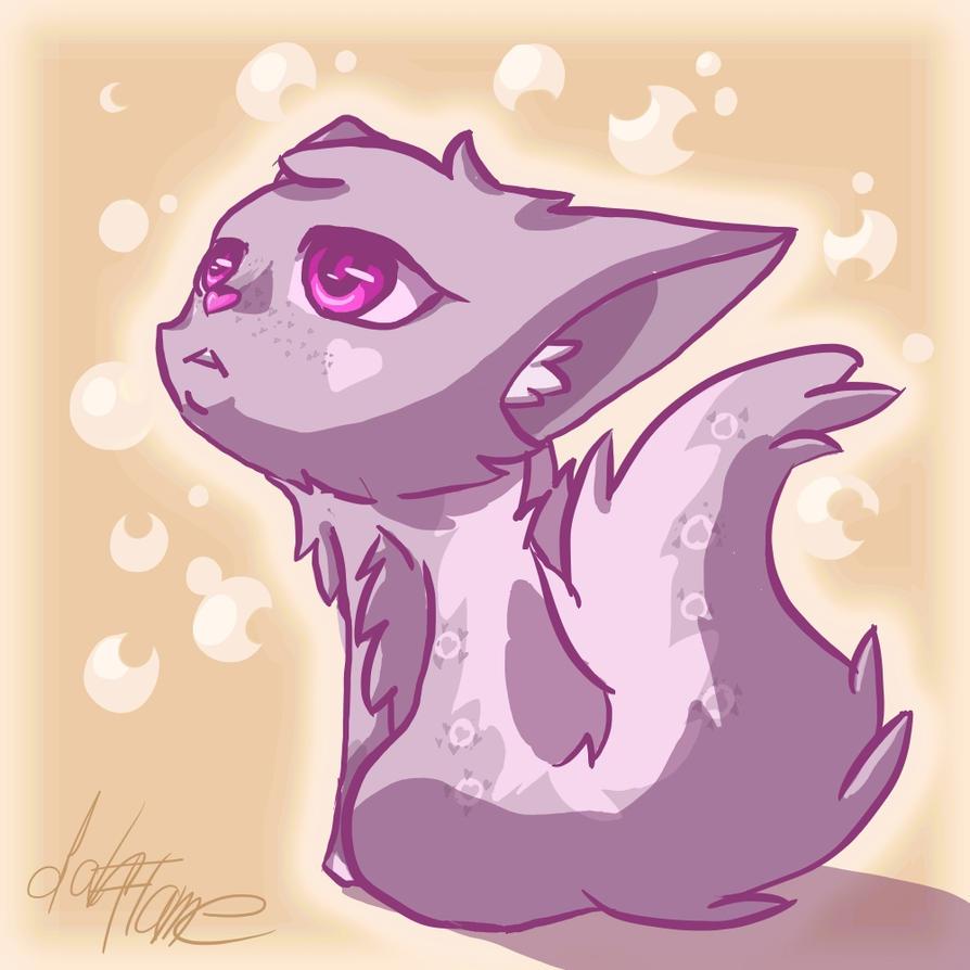 lavander Cat by DahFlame