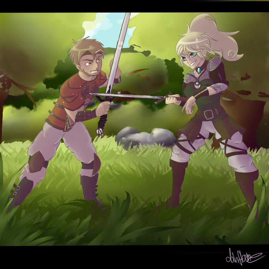 Fighting practice by DahFlame