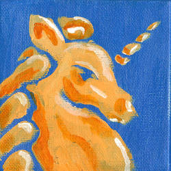 Blue Orange Unicorn by KensanOni