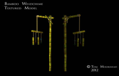 Textured Bamboo Wind Chime