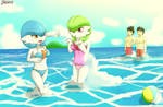 On the beach with our gardevoir with Enrique849