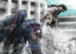 Gipsy Danger Vs Godzilla