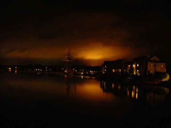 Night on Mystic River by Fiberglasswolf