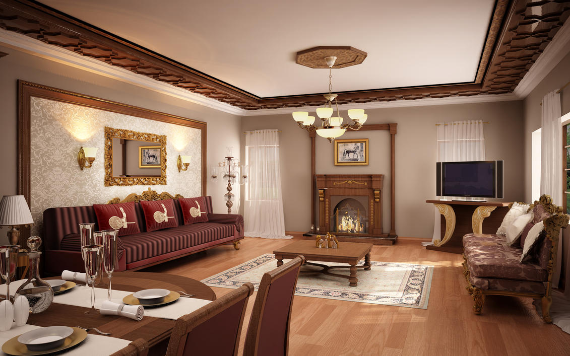 classic living room 01 by murataral on deviantart