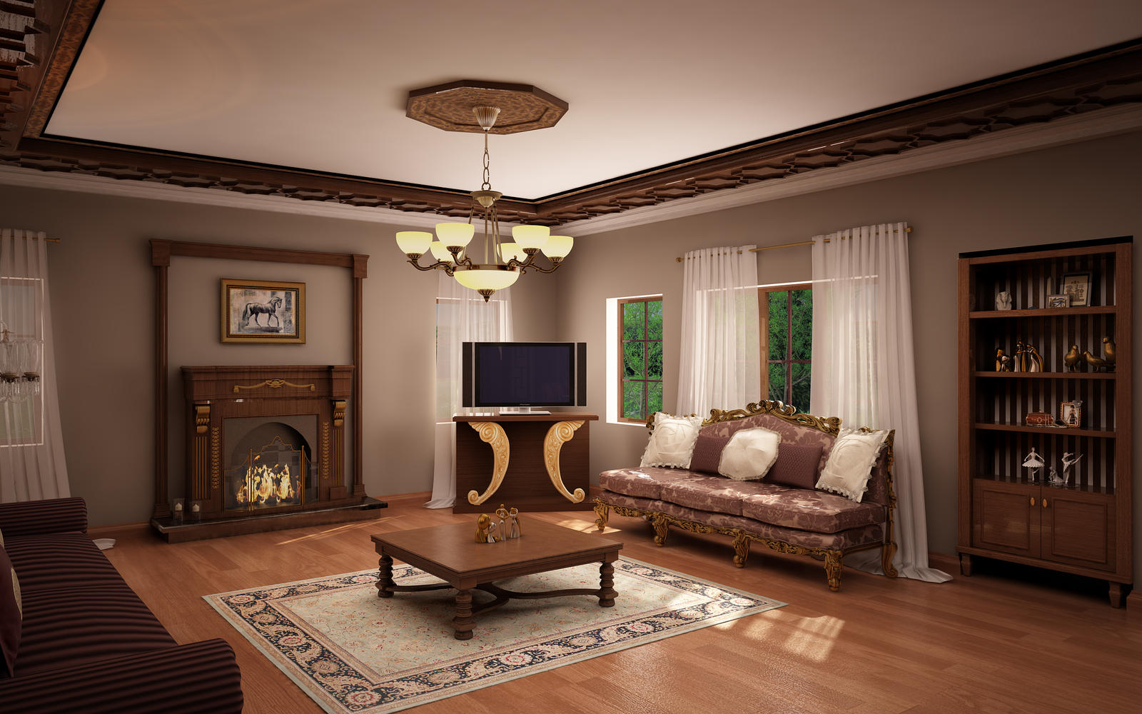classic living room 02 by murataral on deviantart