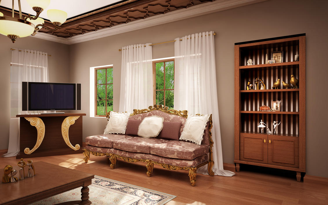 classic living room 04 by murataral on deviantart classic living room furniture design