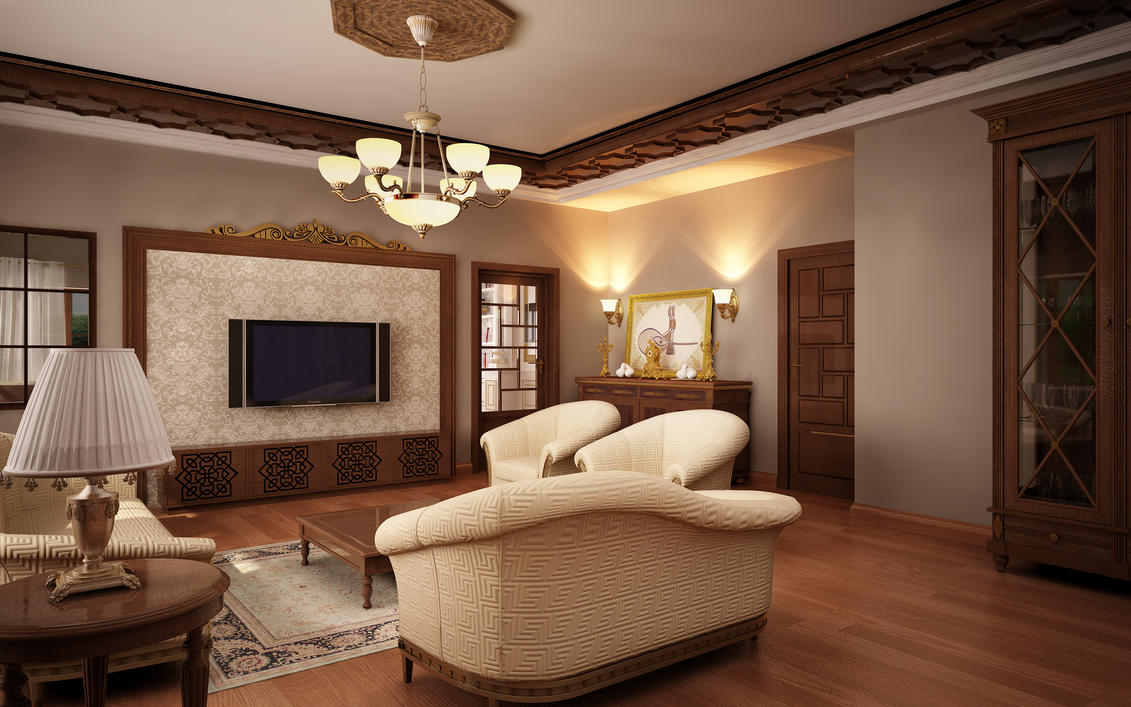 Classic living room 06 by murataral on deviantart for Classic family room ideas