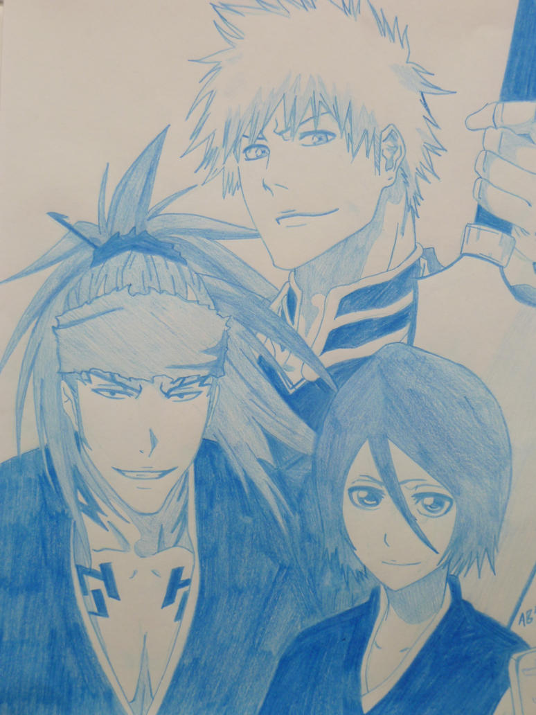 Ichigo,Renji and Rukia by Wolfofshiver