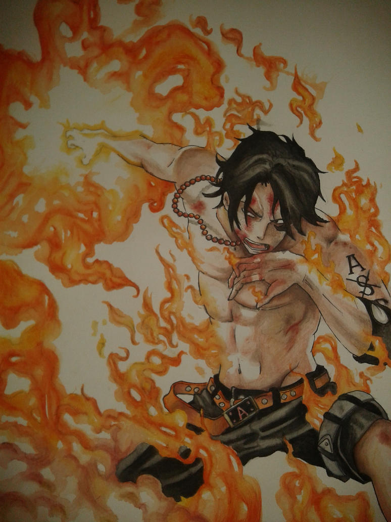 Portgas D.Ace by Wolfofshiver