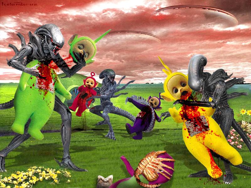 http://fc05.deviantart.net/fs13/f/2007/115/4/9/Alien_Vs_Teletubbies_by_Icelanderus.jpg